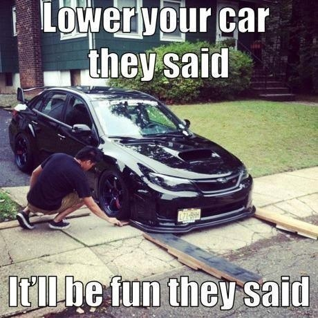 Car Memes Lower your car they said