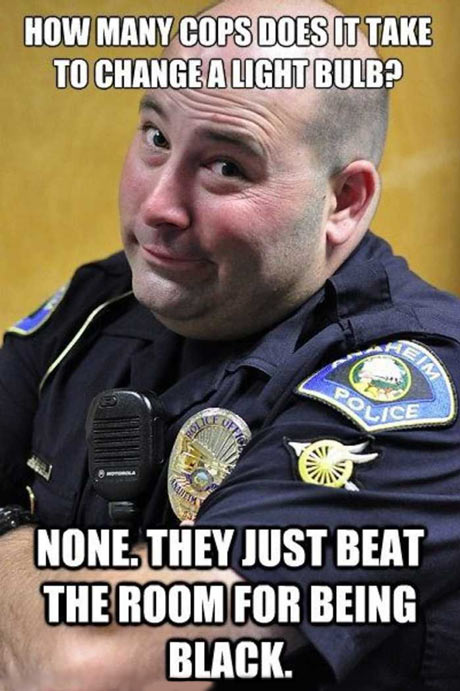 Cop Meme how many cops does it take to change a light bulb