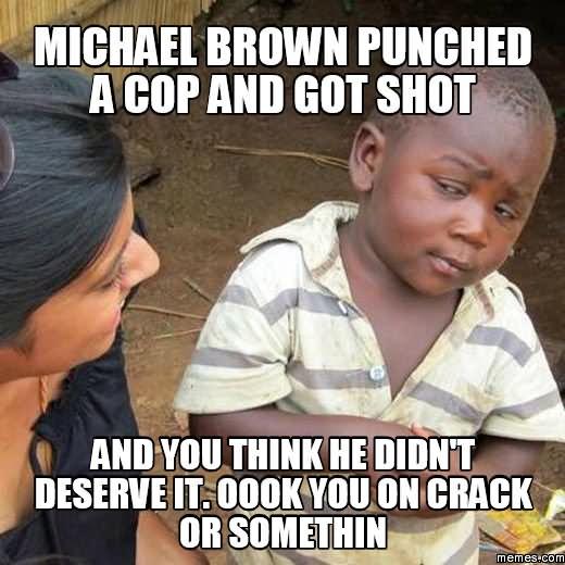 Cops Meme Michael brown punched a cop got shot
