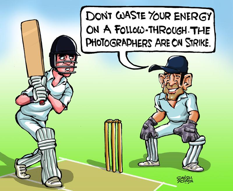 Cricket Meme Don't waste your energy on a follow through the photographers are