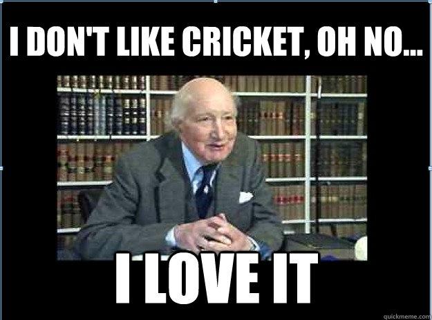 Cricket Meme I don't like cricket oh no i love it