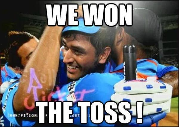 Cricket Meme we won the toss