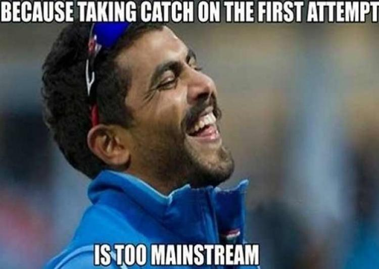 Cricket Memes Because taking catch on the first attempt
