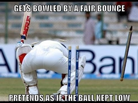 Cricket Memes Get bowled by a fair bounce pretends as