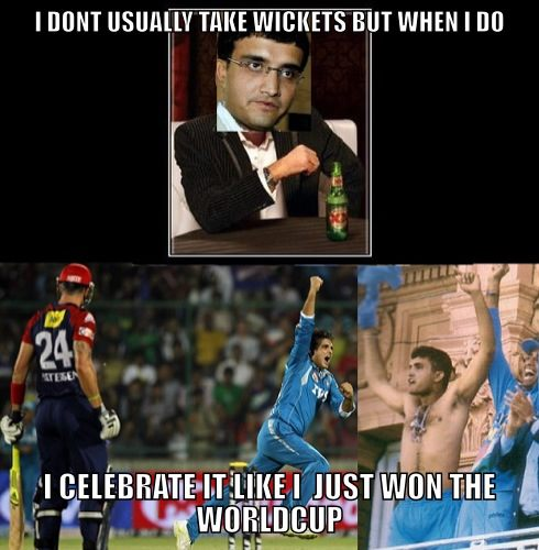 Cricket Memes I don't usually take wickets but when i do i celebrate it like i just won the