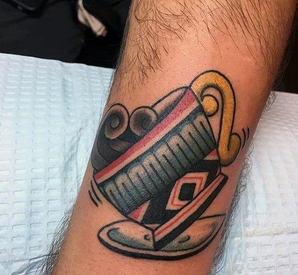 Elegant Coffee Tattoo On Arm for Tattoo fans