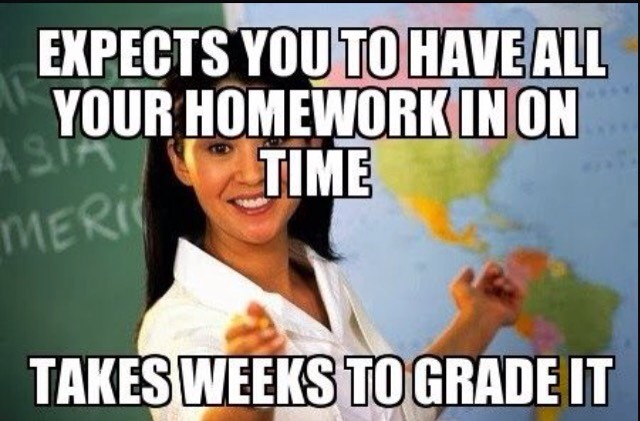 Expects you to have all your homework Meme