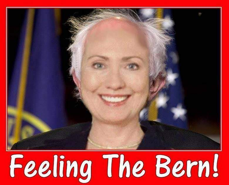 Feeling the bern Funny Hillary Clinton Meme