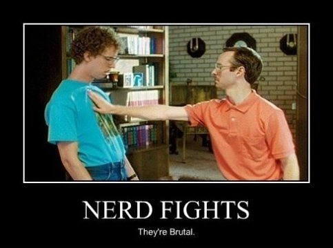 Fight Meme Nerd fights they're brutal