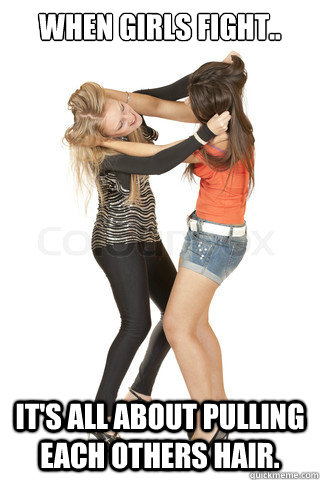 Fight Meme When girls fight its all abou pulling each others hair