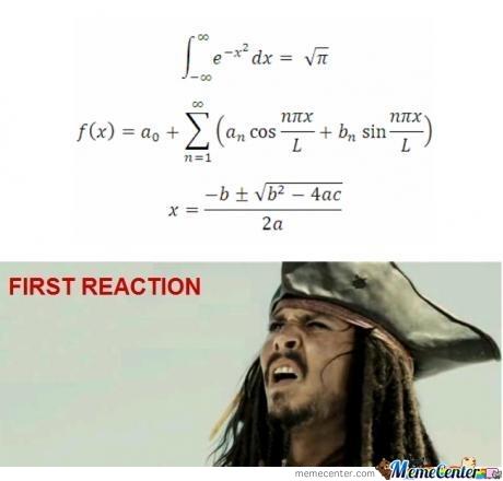 First reachtion Math Meme