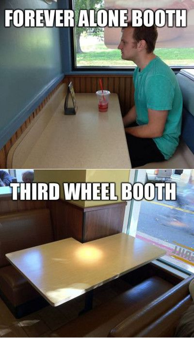 Forever alone booth third wheel booth Computer Memes
