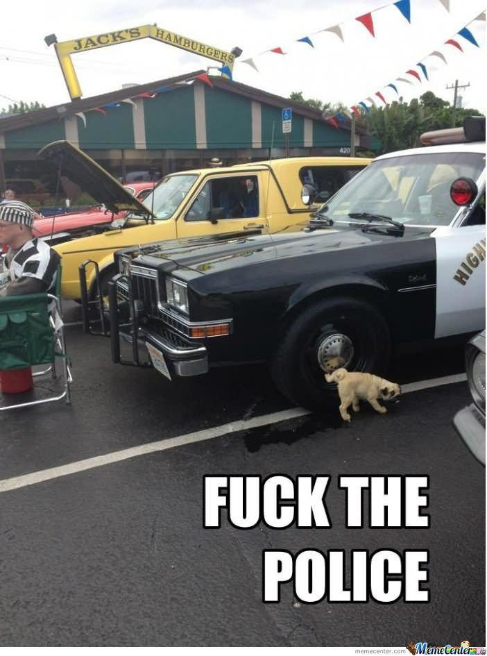Fuck the police Cop Meme