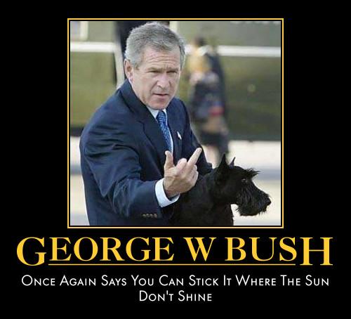 George w bush once again says you can stick it George Bush Meme