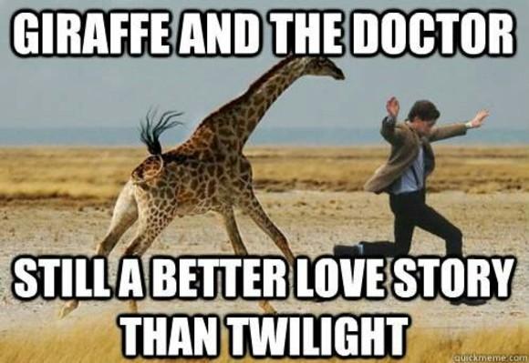 Giraffe Meme giraffe and the doctor still a better love story