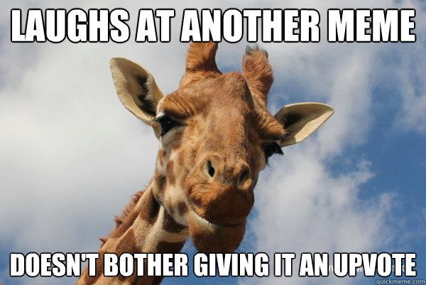Giraffe Meme lAUGhs at another meme doesnt