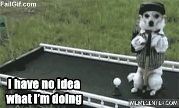 Golf Memes i have no idea what im doing