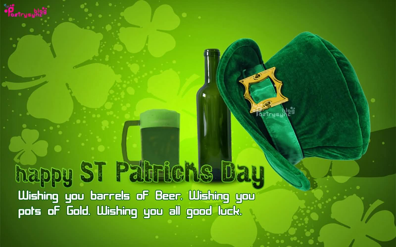 Good Luck Happy St. Patrick's Day Wishes