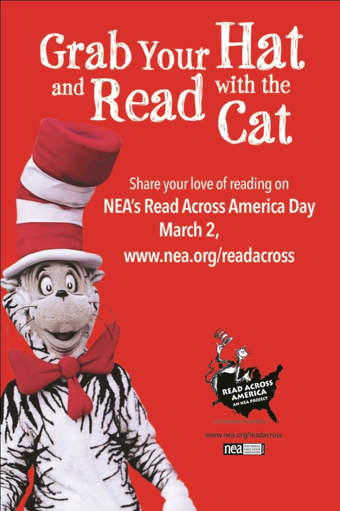 Grab Your Hat And Read With The Cat Read Across America Day