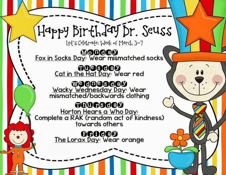 Happy Birthday Dr. Seuss Fox In Socks Day Wear Mismatched Socks Dr. Seuss