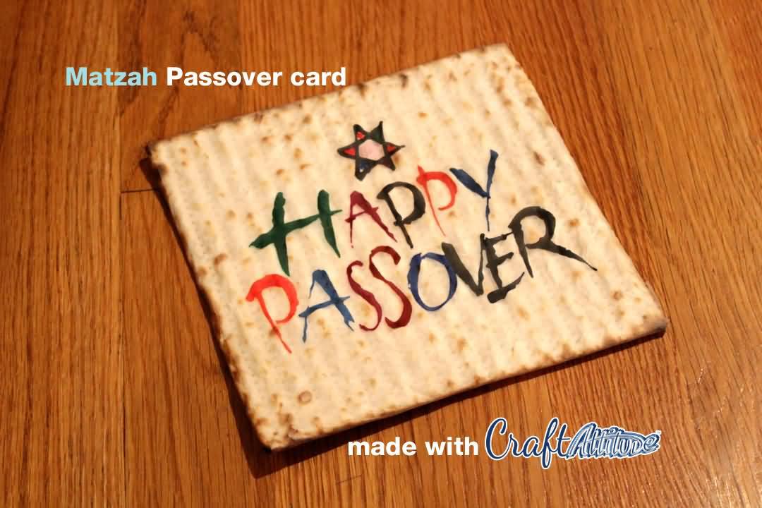 Happy Passover Wishes Matzah Card Image