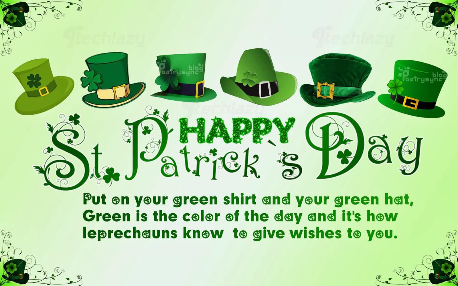 Happy St. Patrick's Day Best Wishes To You