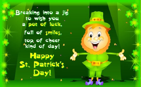 Happy St. Patrick's Day Cute Poem Wishes Message Image