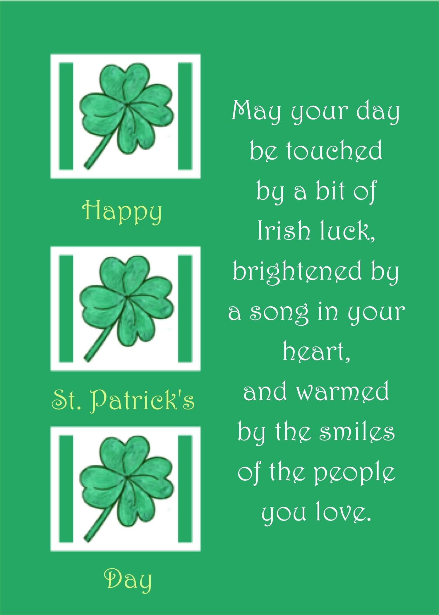 Happy St. Patrick's Day Warmed Wishes Image