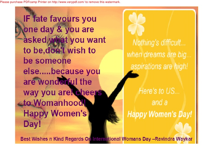 Happy Women's Day Quotes Image