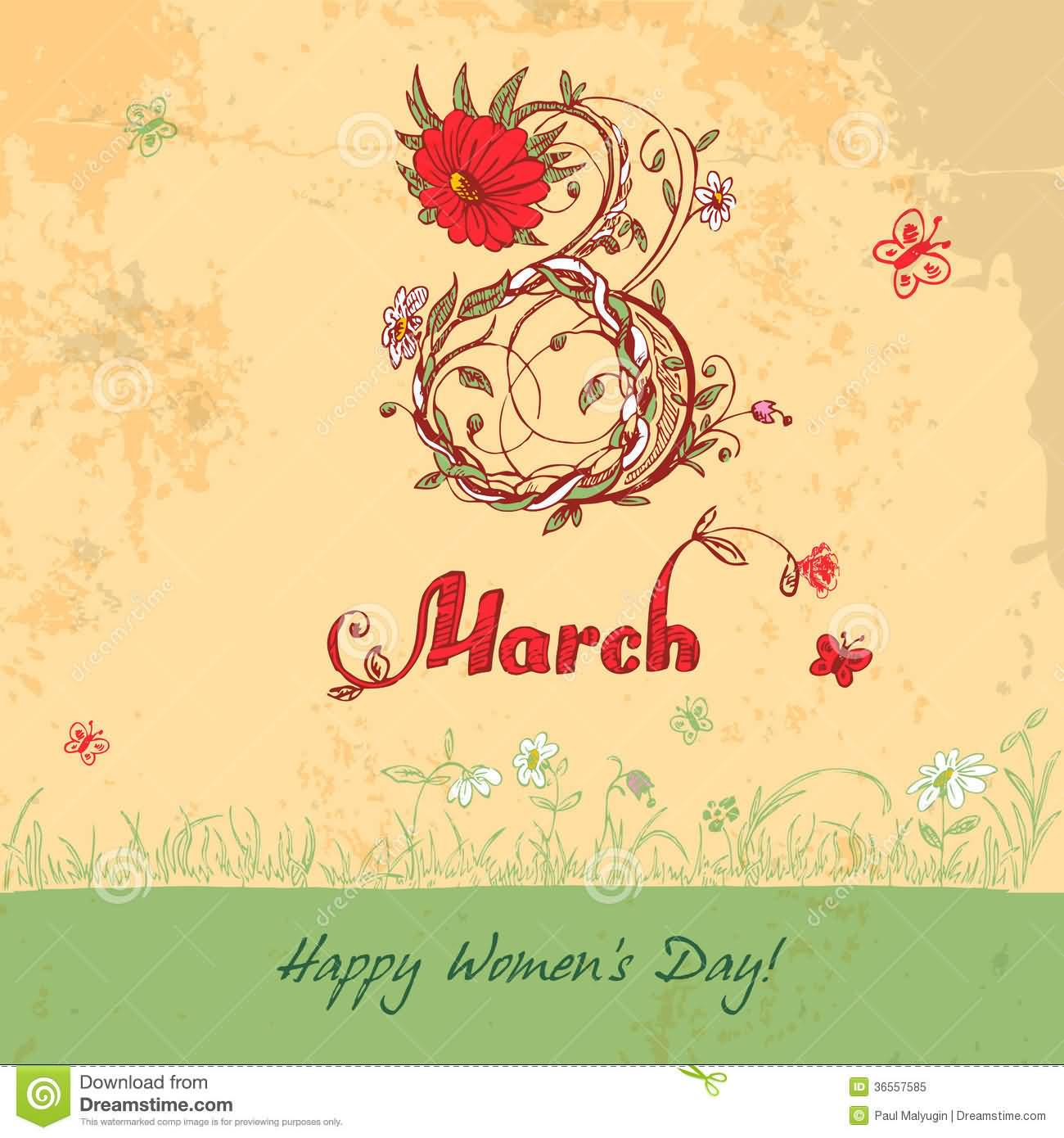 Happy Women's Day Wishes Card Image