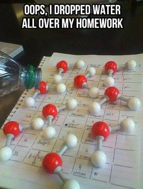 Homework Meme Opps i dropped water all over my homework