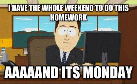 Homework Meme i have the Whole weekend to do this homework