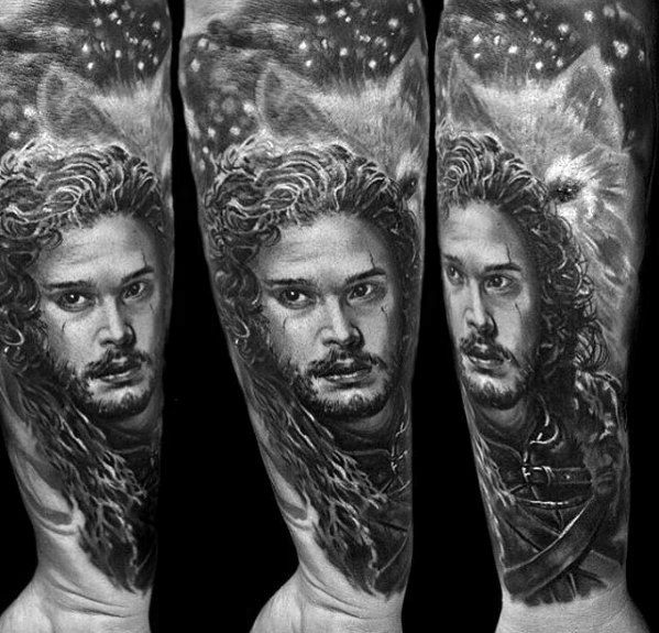 Horrible Game Of Thrones Tattoo For Full arm