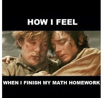 How i feel when i finish my math Math Meme
