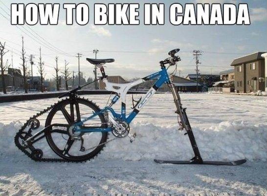 How to bike in canada Bike Meme