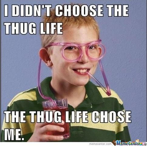 I don't choose the thug life the Cool Meme