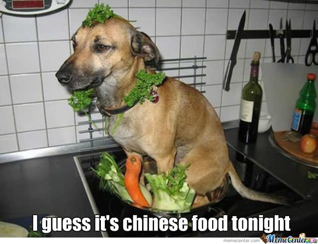 I guess its chiness food tonight Food Meme