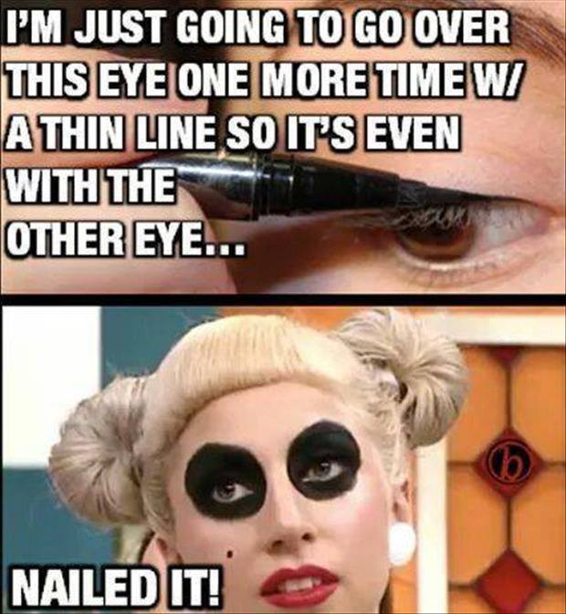 I m just going to go over this eye one more Make Up Meme