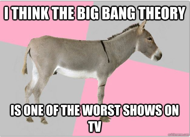 I think the big bang theory is one of the Donkey Meme