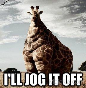 I'll jog it off Giraffe Meme