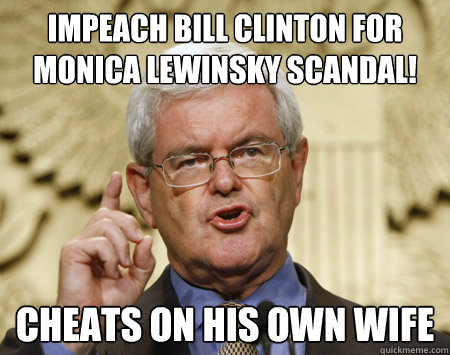 Impeach bill clinton for monica lewisky scandal Bill Clinton Meme