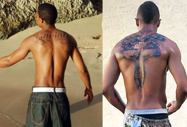 Incredible Cannon Tattoo For Guy's Back