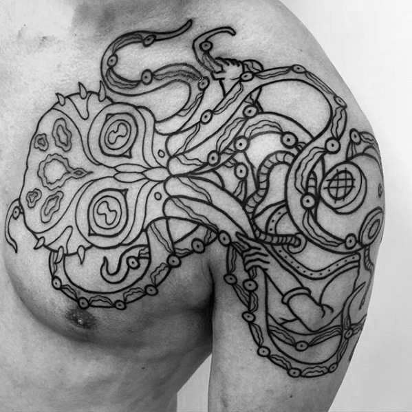 Inspirational Diving Helmet Tattoo