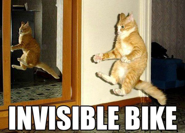 Invisible bike Bike Meme