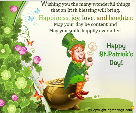 Joyful St. Patrick's Day Wishes Quotes And Message Image