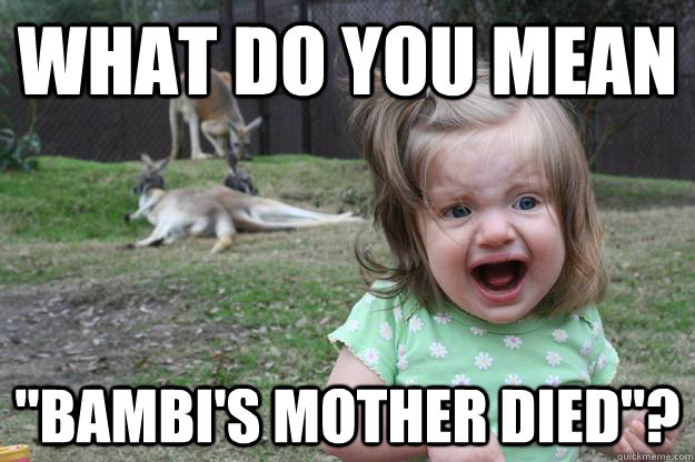 Kangaroo Meme What do you mean bambi's mother died