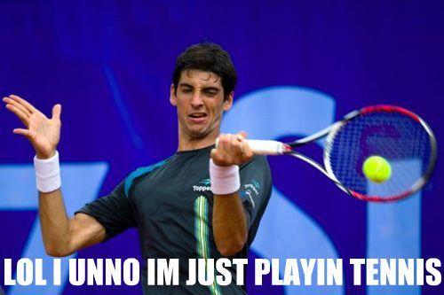 Lol i unno im just playin tennis Golf Meme