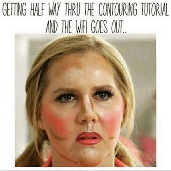 Make Up Meme Getting half way thru the contouring
