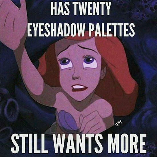 Make Up Meme Has twenty eyeshadow palettes