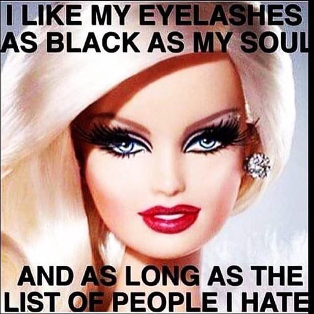 Make Up Meme I like my eyelashes as black